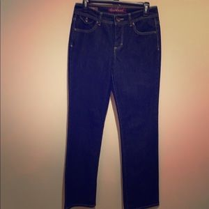 Gloria Vanderbilt Straight Leg Dark Wash Jeans